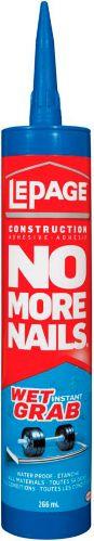 Adhésif de construction LePage No More Nails Wetgrab, 266 mL