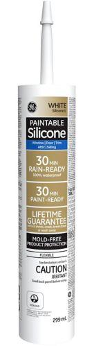 GE II Paintable Window & Door Sealant, White, 299-mL Product image