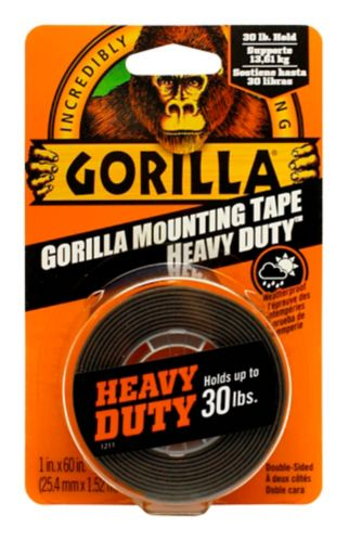 Gorilla Glue Mounting Tape, Black