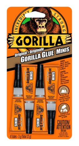 Gorilla 3G Glue Tube, 4-pk