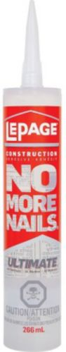 LePage No More Nails Ultimate Crystal Clear Construction Adhesive, 266-mL Product image