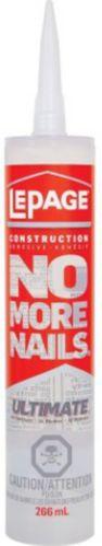 Adhésif de construction LePage No More Nails Ultimate Crystal Clear, 266 mL Image de l'article