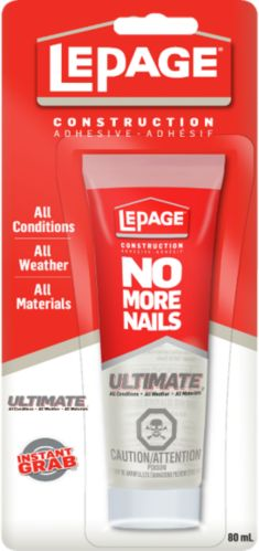 Adhésif de construction LePage No More Nails Crystal Clear, 80 mL Image de l'article