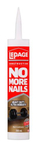 Adhésif de construction ultra robuste LePage No More Nails, 266 mL Image de l'article