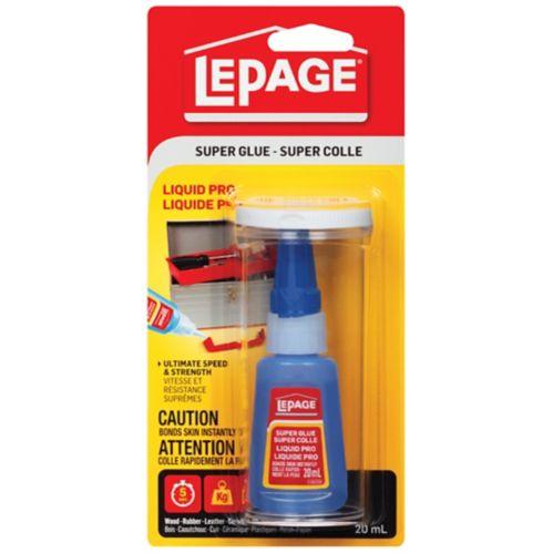LePage Liquid Pro Super Glue Adhesive, 20-mL
