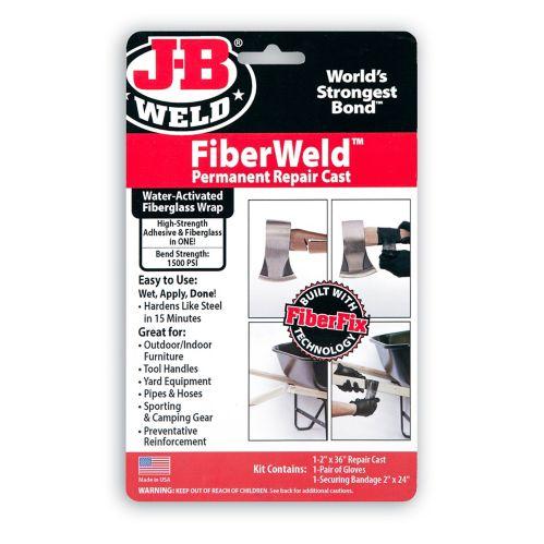 J-B Weld FiberWeld Permanent Repair Cast Wrap, 2-in x 36-in