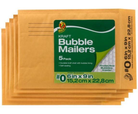 Enveloppes à bulles Kraft, paq. 5 Image de l'article