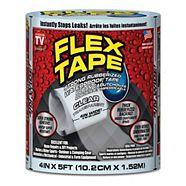 Flex Tape, Black, 4-in x 5-ft