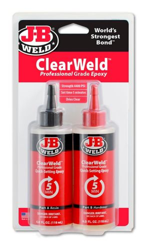 J-B Weld ClearWeld Epoxy, 8-oz Product image