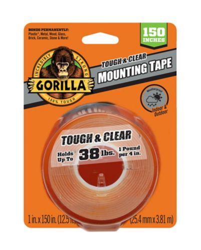 Ruban adhésif de montage Gorilla Glue Tough & Clear, 150 po Image de l'article