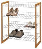 Range-chaussures en bambou et métal | FOR LIVINGnull