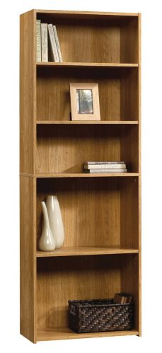 Sauder Beginnings 5-Shelf Oak Bookcase