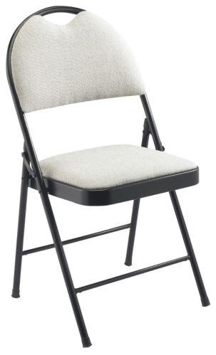 For Living Designer Hi-Back Folding Chair, White