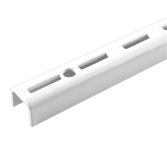 Rail simple, blanc, 24 po
