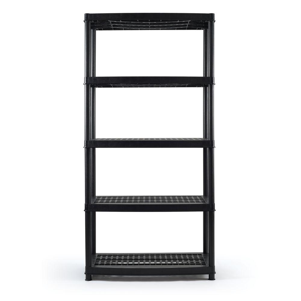 Certified 5-Shelf Resin Rack, 36 x 18 x 72-in