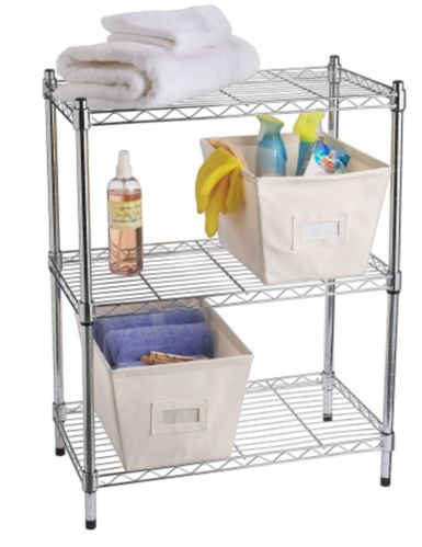 For Living 3-Tier Wire Shelf, Chrome Product image