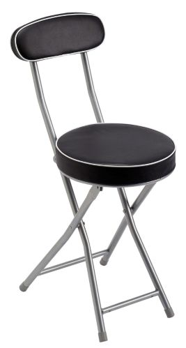 For Living Folding Stool with Back Support