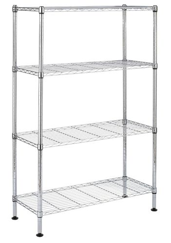For Living 4-Tier Chrome Wire Shelf