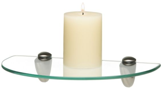 Home Collections Glass Shelf, Semi-Circle