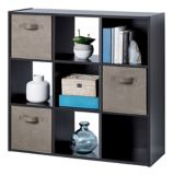 For Living 9-Cube Storage Shelf, Dark Brown | FOR LIVING | Canadian Tire
