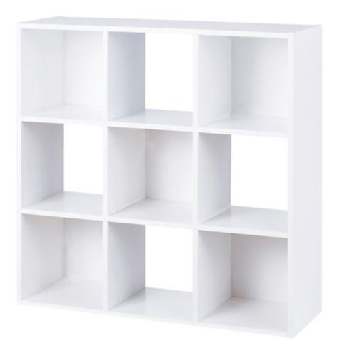 For Living 9-Cube Storage Shelf, White Product image