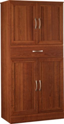 Dorel Cherry Cabinet with Drawer, 60-in