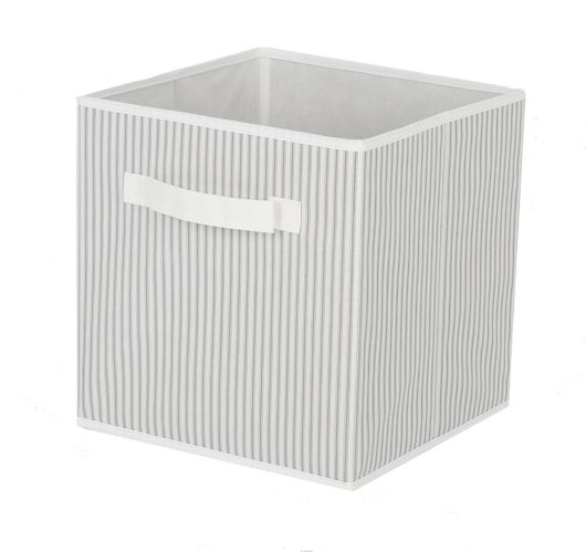 CANVAS Fabric Drawer Cube, White/Grey