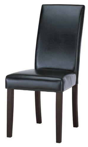 CANVAS Bonded Leather Dining Chair, Black
