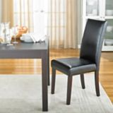CANVAS Bonded Leather Dining Chair, Black | CANVASnull