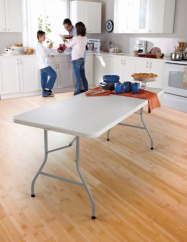 For Living Folding Table with Castors, 6-ft
