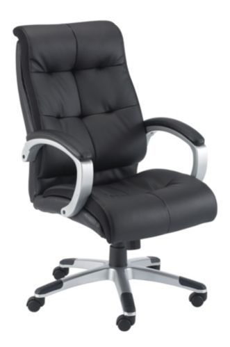 For Living Leather Executive Office Chair, Black