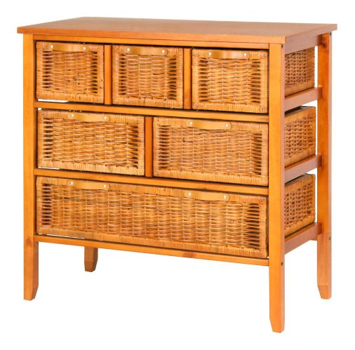 For Living Large Wicker Chest, Honey Product image