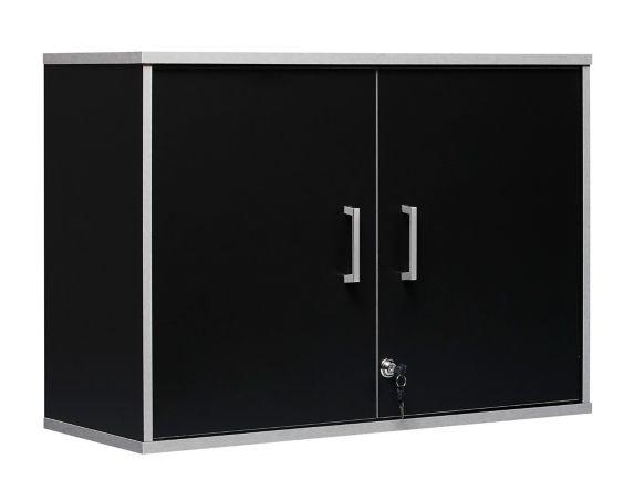 System Build 2-Door Storage Wall Cabinet, Black