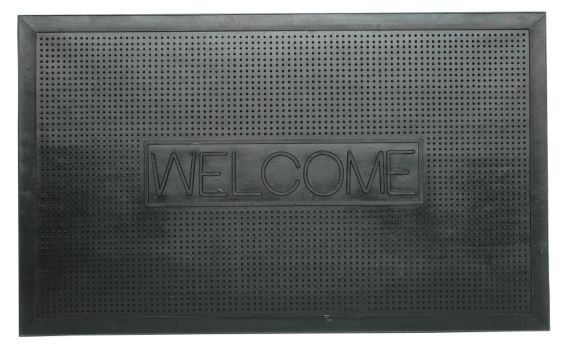 Rubber Welcome Mat, 18-in x 30-in Product image