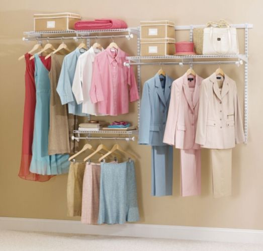 Rubbermaid White Closet System, 4-8 ft