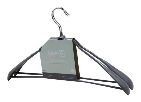 type A Stay Non-Slip Coat Hanger, 2-pk