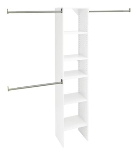 ClosetMaid Closet Tower Kit, White, 16-in Product image