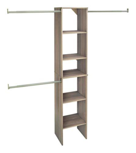 ClosetMaid Closet Tower Kit, Grey, 16-in Product image