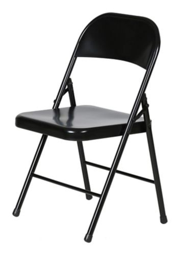 For Living Steel Folding Chair, Black Product image