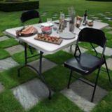 For Living Steel Folding Chair, Black | FOR LIVINGnull
