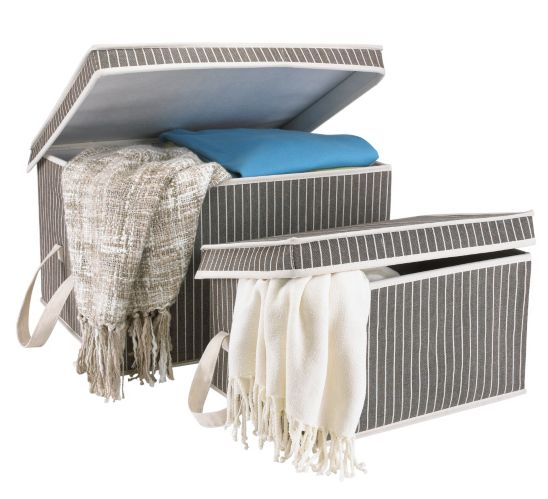 For Living 2 Pack Pinstripe Storage box Product image