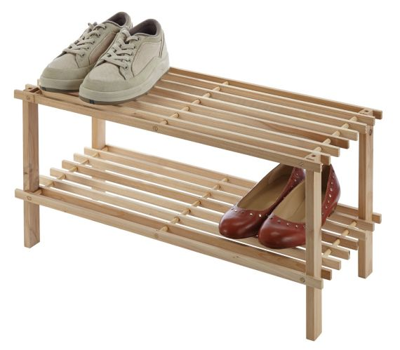 Range-chaussures en pin Simplicite