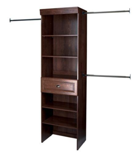 Sauder Hanover Jamocha Wood Wide Closet Starter Kit