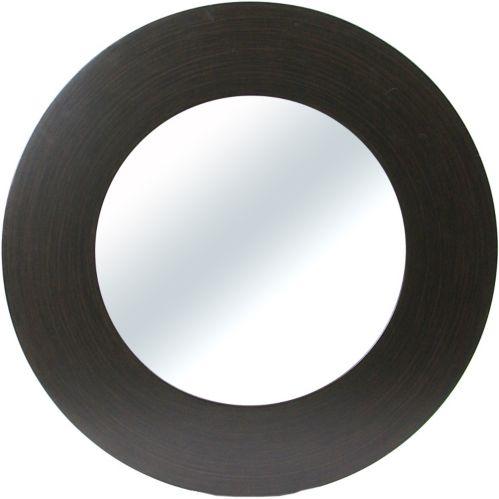 Miroir rond classique, 24 po, espresso Image de l'article