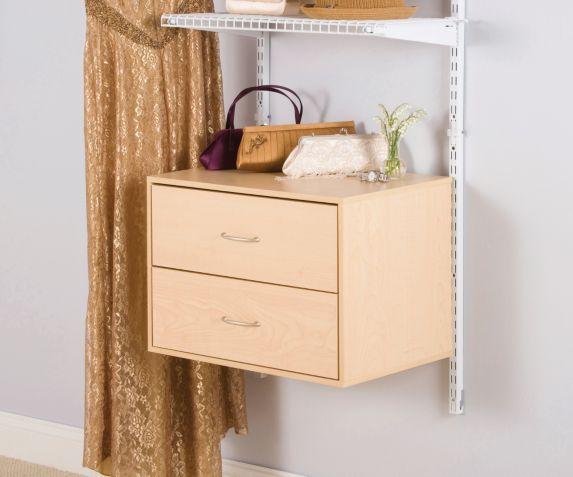 Unité en bois murale 2 tiroirs Rubbermaid, espresso Image de l'article