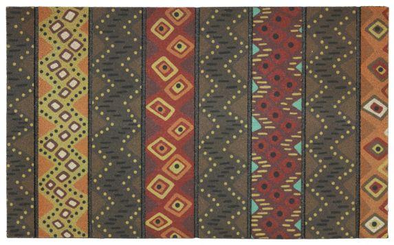 Tapis en caoutchouc recyclé, motif africain Image de l'article