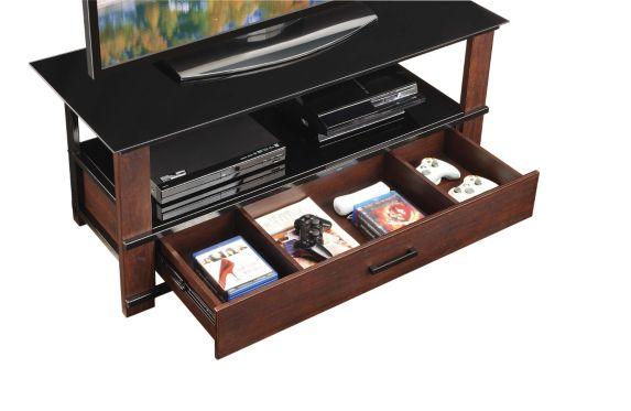 Meuble de téléviseur Whalen, tiroir en bois Image de l'article
