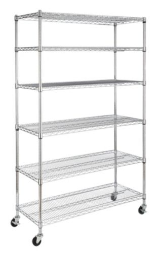 For Living 6-Tier Wire Shelf with Castors Product image