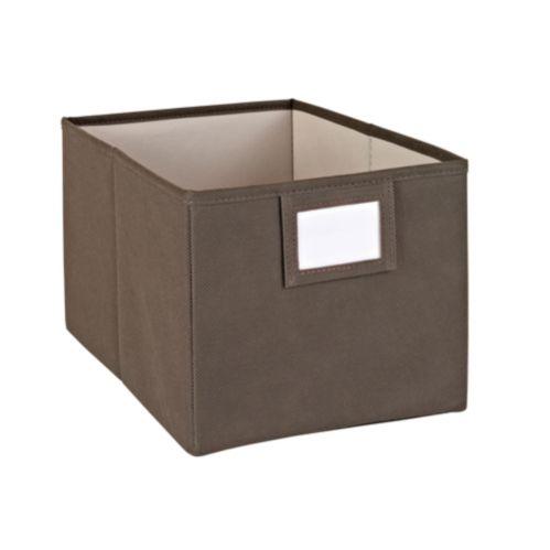 Closetmaid Brown Fabric Bin with Label