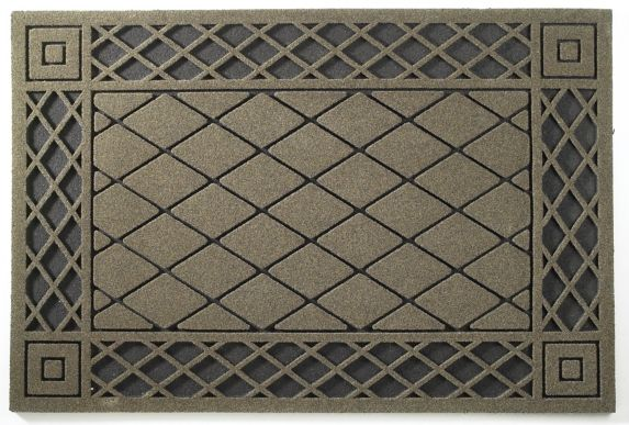 Argyle Taupe Mat, 2x3-in Product image